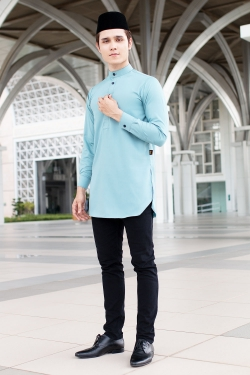 Aariz Kurta - Dusty Blue
