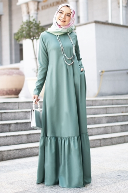 Agnesee Jubah - Dusty Green