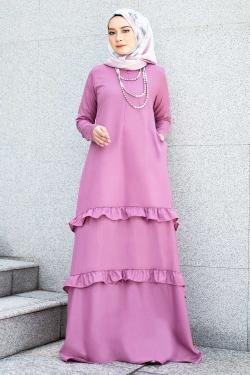 Arlenee Jubah - Sweet Pink