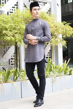Aariz Kurta - Dark Grey