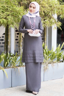 Ainaa Kurung - Dark Grey
