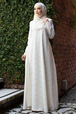 ATHENAA LACE JUBAH - OFFWHITE
