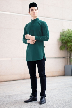 Aariz Kurta - Emerald Green