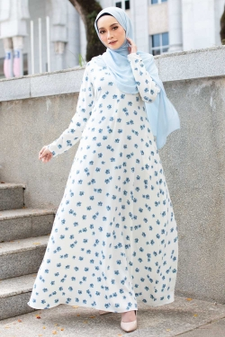 ALNASAA PRINTED JUBAH - OFF WHITE